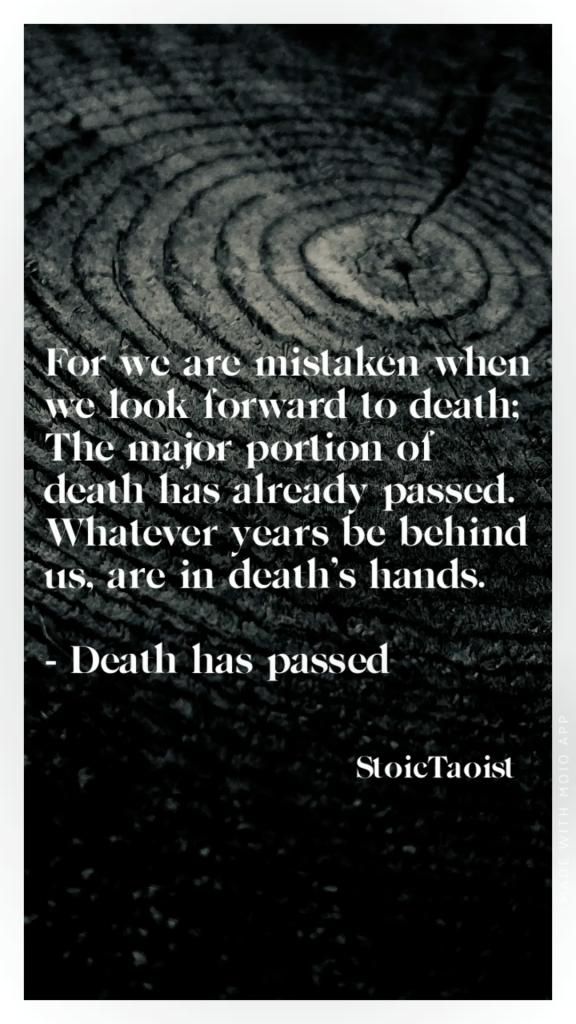 Death has passed